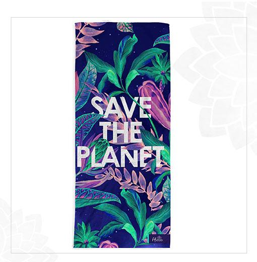 ECO-FRIENDLY SAVE THE PLANET TOWEL