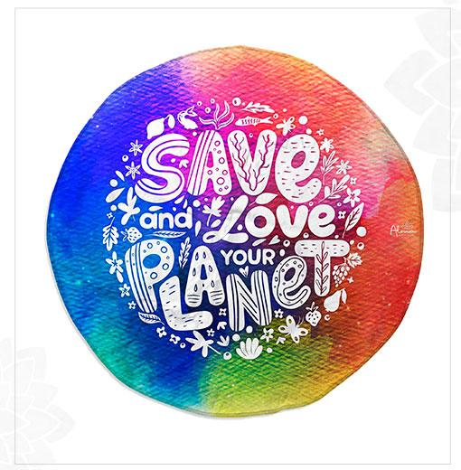 ROUND MAT LOVELY PLANET