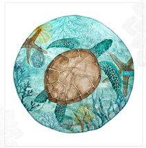 ROUND MAT SEA TURTLE
